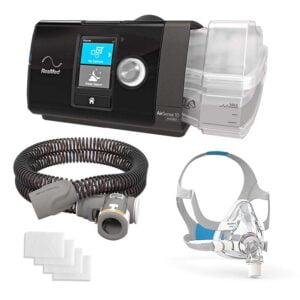 AirSense 10 AutoSet Auto CPAP + AirFit F20 Full Face CPAP Mask QuiteAir - Bundle Package